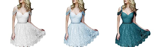off the shoulder homecoming dress