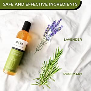 shampoo bottle and plants