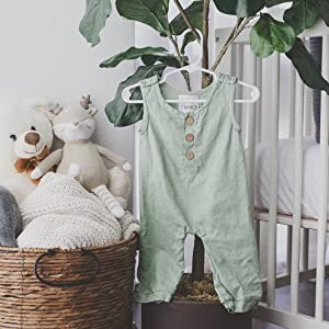 other green baby romper
