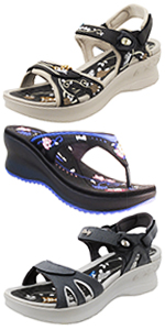 Gold Pigeon Shoes GP Platform Sandals Flip flops comfort ergonomic sole light weight