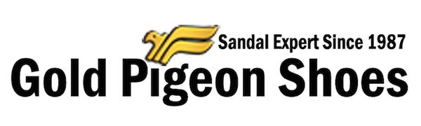 gp logo gold pigeon shoes