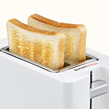The lift lever will pop up automatically when toasting is finished.