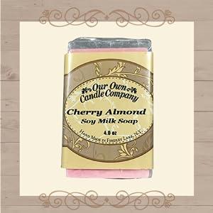 Cherry Almond Scent Soy Milk Bar Soap