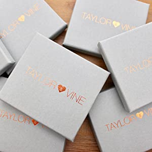 taylor and Vine Jewellery gift boxes