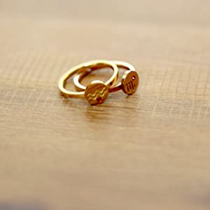 Horoscope birthstone rings in gold and rose gold