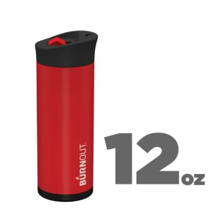 BURNOUT 12oz Red Temperature Regulating Travel Mug