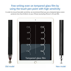 【No Charging & High Sensitivity on Screens with Tempered Glass Protective Film】