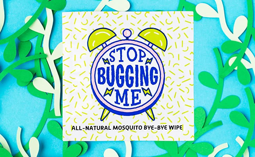 Natural mosquito wipes