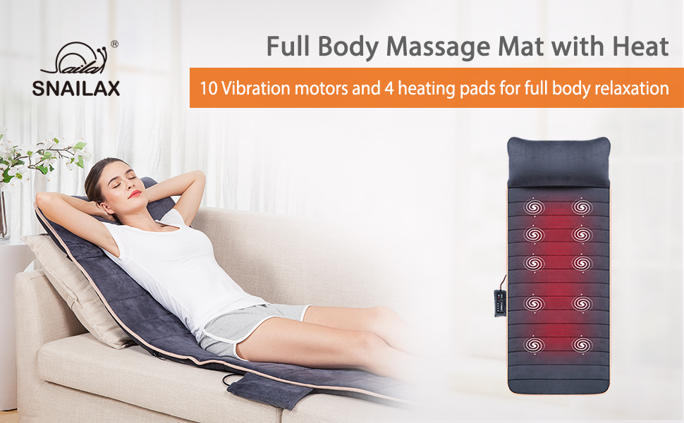 full body massage mat massager for neck and  upper back lower back vibration heating pad