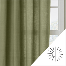 BrylaneHome brylane home voile sheer curtain window drapes opacity guide