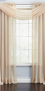 BrylaneHome brylane home voile sheer curtain window drapes