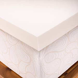 SleepJoy NonVent 2 Inch Mattress Topper Queen Square
