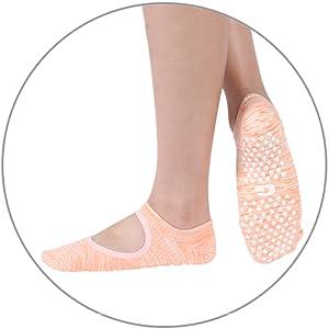 yoga barre grip socks for women best non slip skid yoga pilates socks