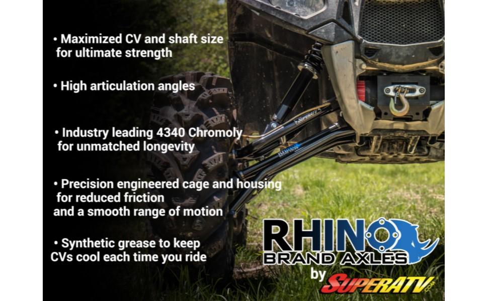 rhino axle features