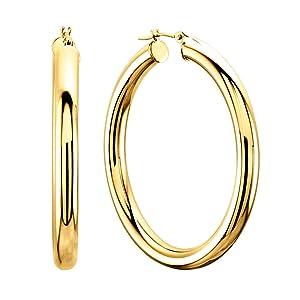 big gold hoop earrings for women