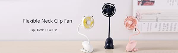 Flexible Neck Clip Fan