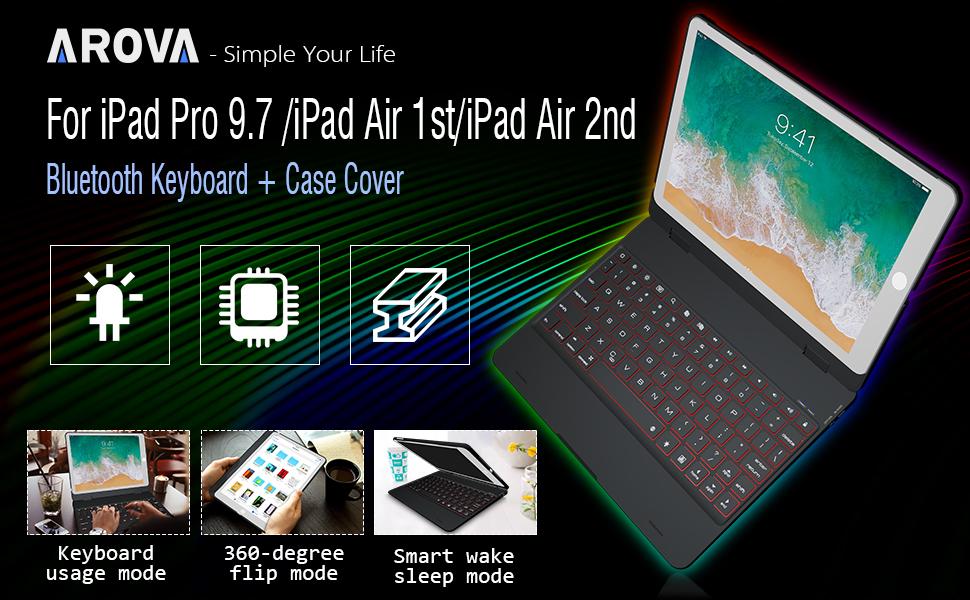 AROVA iPad Keyboard Case 9.7 inch