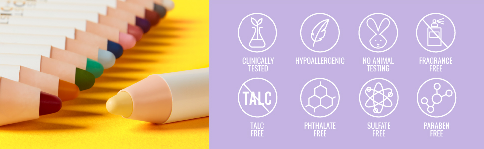 Visionary Makeup Crayon Talc Free Clinically Tested No Animal Testing Fragrance Free