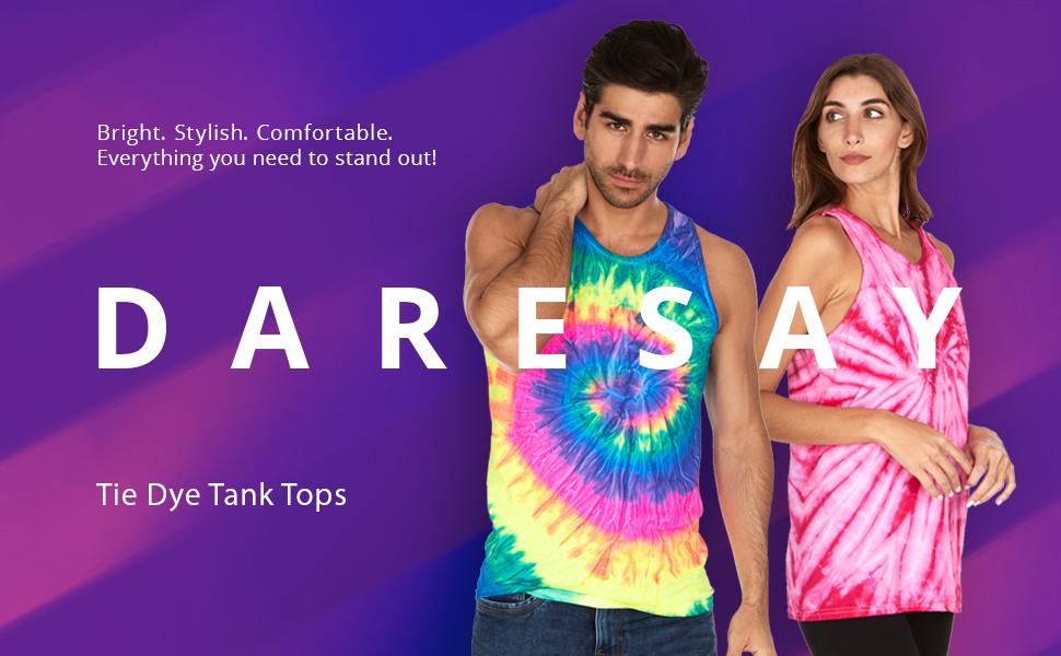 tiedye tie dye tank top women men workout tanks color cotton tye dye dye active casual sleeveless