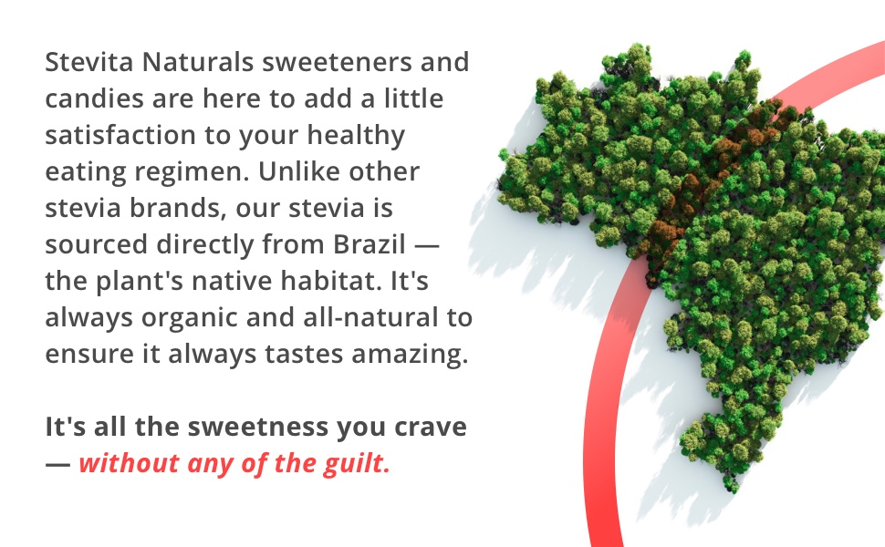 Natural sweeteners and candies healthy eating regimen sourced from Brazil and tastes amazing.