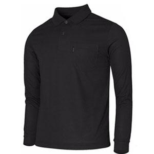 Bcpolo Long Sleeves Black Polo Shirt