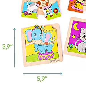 wooden puzzle for child kids safe toddlers boards educational jigsaw pieces preschool includes 6