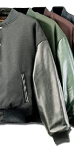 Premium Varsity Leather/wool Jacket