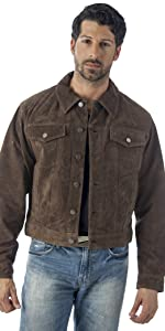 Western Suede Leather Jacket