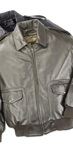 Bomber Leather Air Force Pilot Jacket Union Made in USA