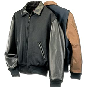 Leather Varsity Jacket Made in USA