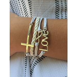 white christian bracelet