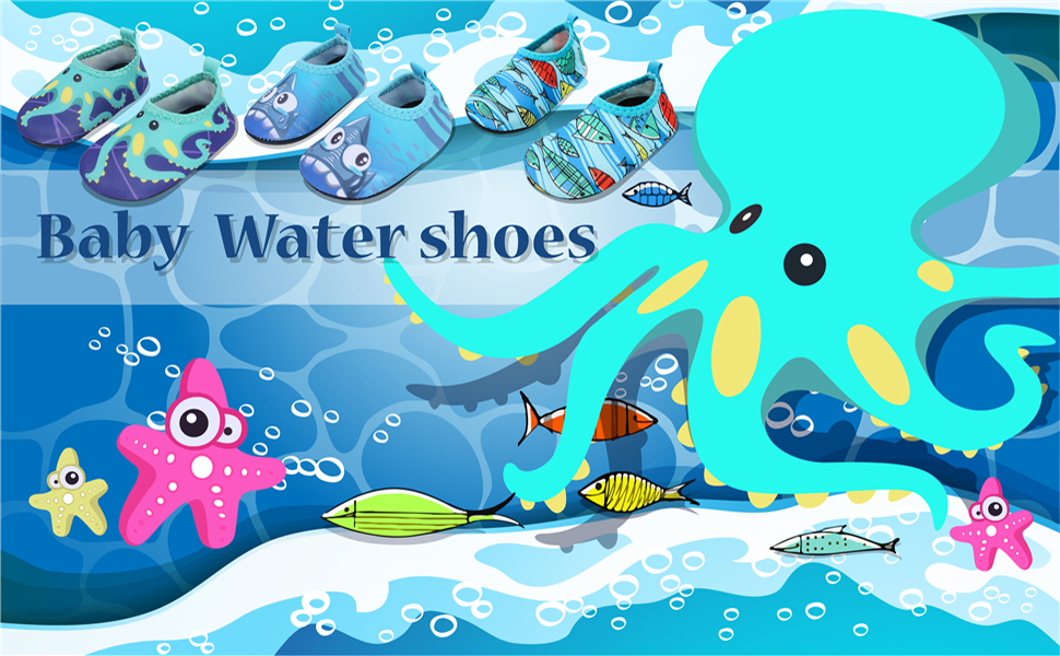 JIASUQI Cute Summer Pool Swimming Beach Water Shoes for Baby Boys and Girls