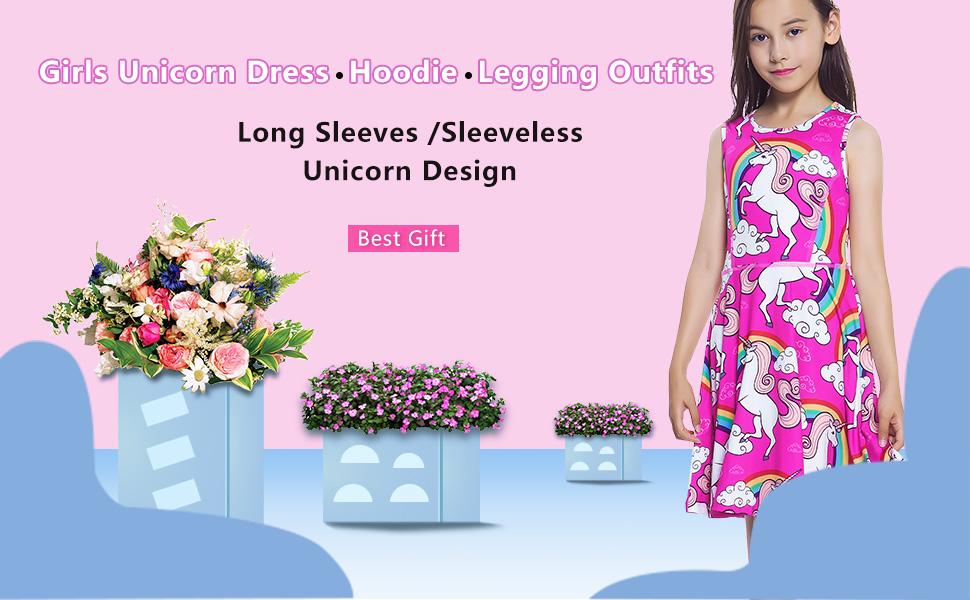 Jxstar Girls Unicorn Dress