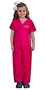 kids scrubs, doctor costume, scrubs for kids