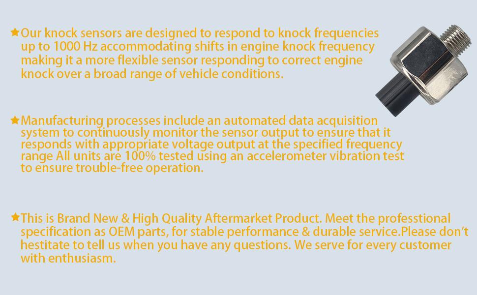 Detonation Knock Sensor KS Sensor for Acura RDX RSX TSX Honda Accord Civic CR-V