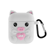 AirPods Case with Keychain, Shockproof Protective Premium Silicone Cover Skin for AirPods  Case