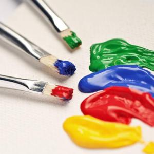 Acrylic Paint & Useful Brush