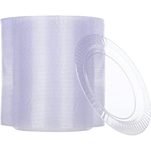 A photo of our disposable clear plastic plates