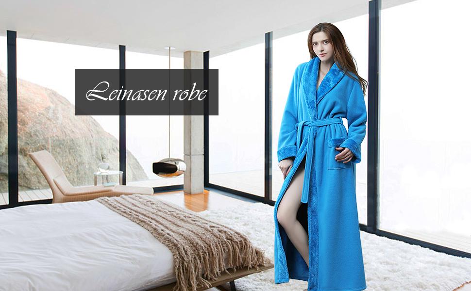 leinasen bathrobe for women