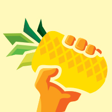 pineapple in hand