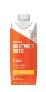 caramel bulletproof cold brew coffee grassfed ghee brain octane mct coconut oil
