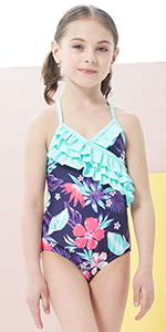 Girls One Piece Swimsuits