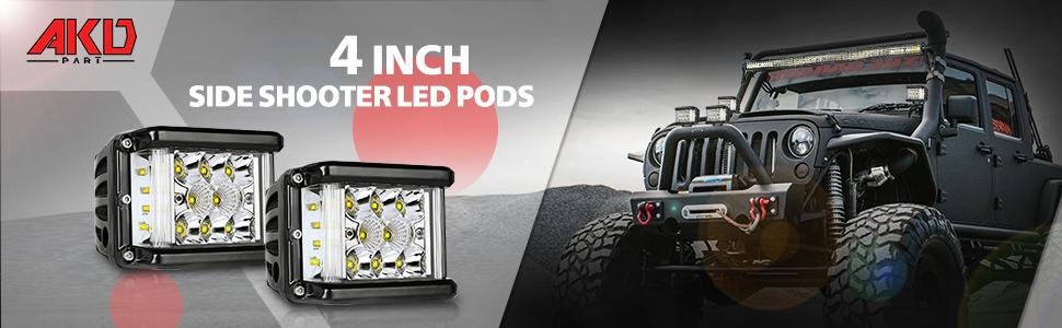 Side Shooter LED Pods