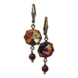 Volcano Rivoli Crystal Earrings