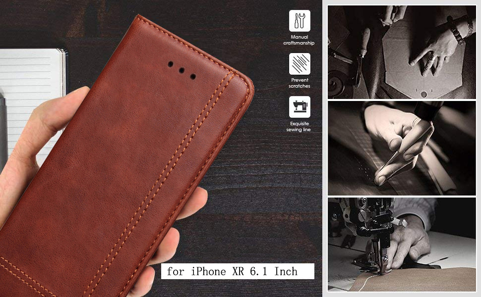 iphone xr wallet leather case