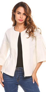 Zip up Slim Suit Blazer Coat Jacket
