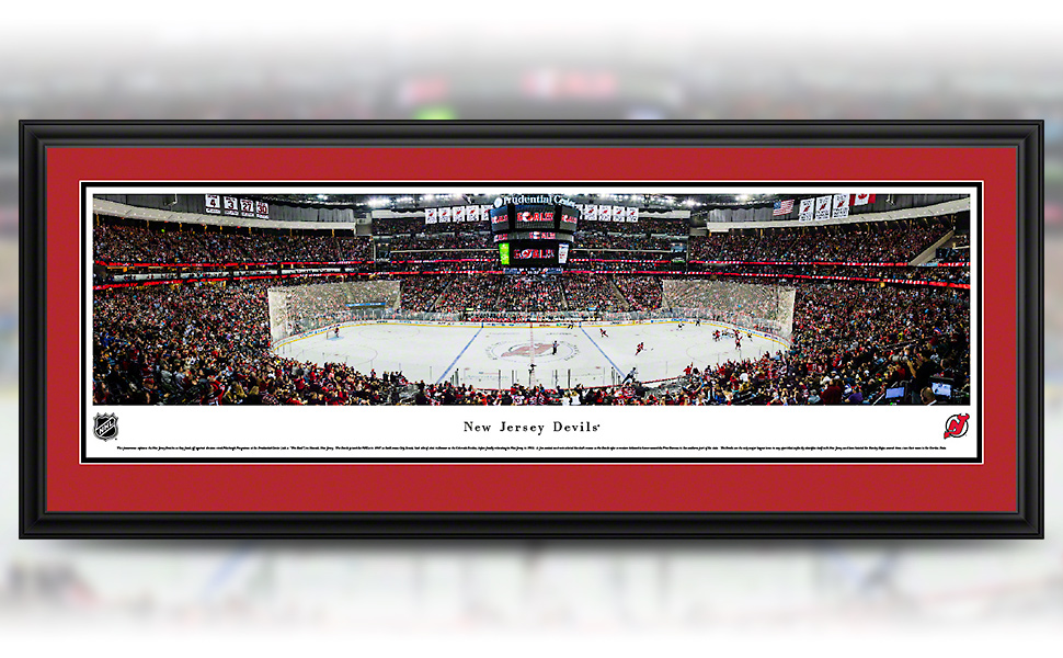 New Jersey Devils panoramic game photo