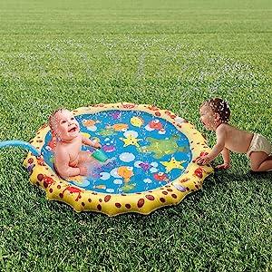 YAVOCOS Splash Water Play Mat, Direct Sprinkle and Splash Play Mat