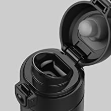 Leakproof Press Button locking lid & Non-slip Rubber Base