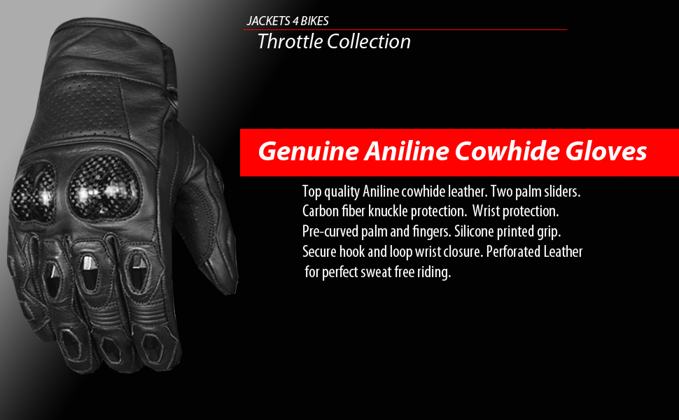 Motorcycle Aniline Soft Leather Gloves